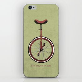 Unicycle iPhone Skin