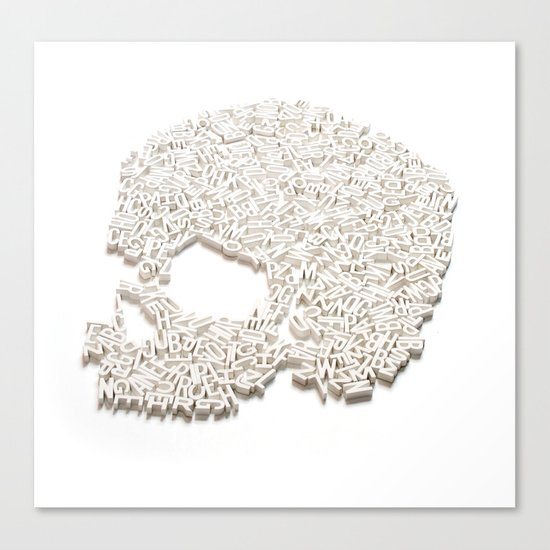 303. A Skull of Letters Canvas Print