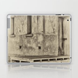 Antique plate style old loading dock Laptop & iPad Skin