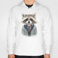 raccoon Hoodies featuring Raccoon by Leslie Evans