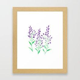 Purple Delphinium Framed Art Print