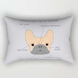 The French Bulldog Face Guide Rectangular Pillow