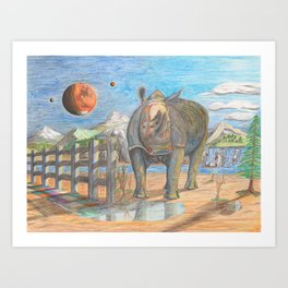 Rhino, Skaler aka General Tuff Art Print