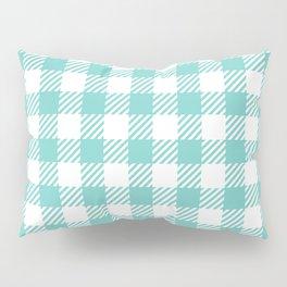 Turquoise Vichy Pillow Sham