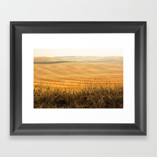 Golden Fields after Harvest Framed Art Print