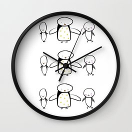 Penguin Love Wall Clock