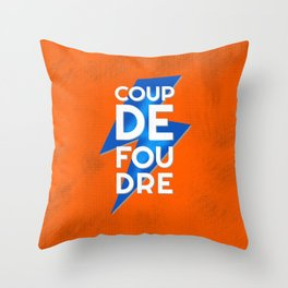 Coup de Foudre / Blue Lightning Throw Pillow