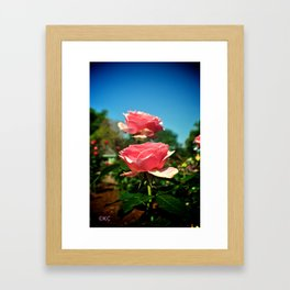 Beauty and the Beast Rose Framed Art Print