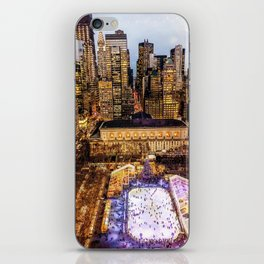 Window out to New York City at Christmas iPhone Skin