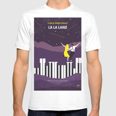 No756 My La La Land minimal movie poster White X-LARGE Mens Fitted Tee