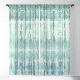 Ombre' Nori Shibori Green Sheer Curtain