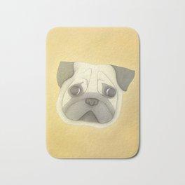 Pug face Bath Mat