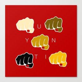 Unity - End Racism Canvas Print