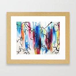 Begining of Color Framed Art Print