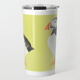 Paula Puffin (Yellow) Travel Mug