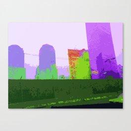 NY#2 Ground Zero, Purple Canvas Print