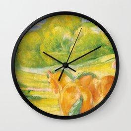 """Franz Marc """"Large Landscape I (Landschaft I)"""" Wall Clock"""