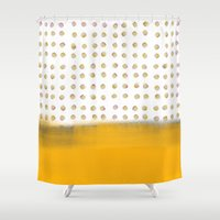 dot Shower Curtains featuring dot dot dot by Francesco Pittiglio Berger