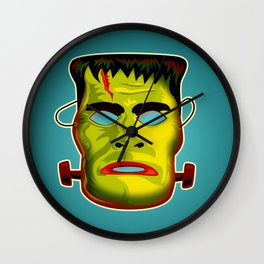 Frankenstein Monster Mask Wall Clock