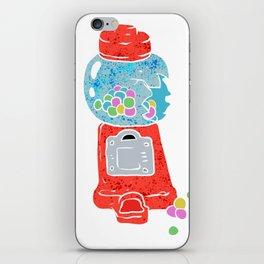 Bubble gum machine. iPhone Skin