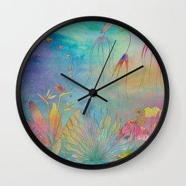 Sunset garden  Wall Clock