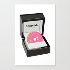 Marry Me Canvas Print