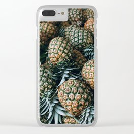 Tropical Pineapples Clear iPhone Case