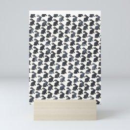 Rabbit Chalkboard Pattern by Robayre Mini Art Print