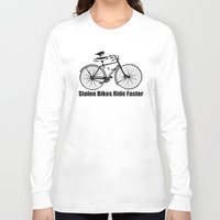 bikes Long Sleeve T-shirts featuring stolen bikes... by Seamless