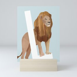 L - Lion Mini Art Print