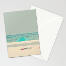 beach umbrella Stationery Cards