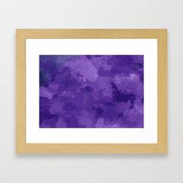 amethyst watercolor abstract Framed Art Print