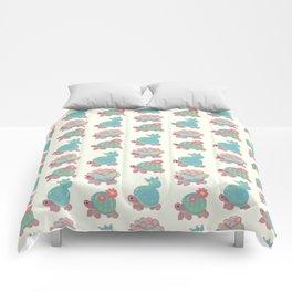Cactus tortoise Comforters