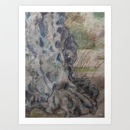 profile of the grandad tree Art Print