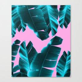 Banana Leaves Tropical Vibes #3 #foliage #decor #art #society6 Canvas Print