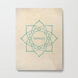 Namaste Lotus Art Print Metal Print