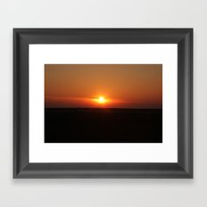 Sunset in Wiltshire England Framed Art Print