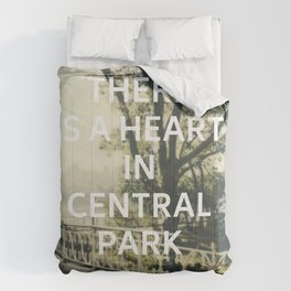 New York (There is a Heart in Central Park) Comforters