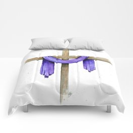 Purple Cross Comforters