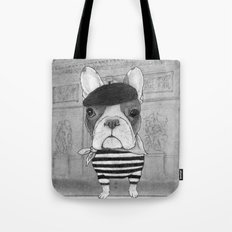 French Bulldog. (black and white version) Tote Bag