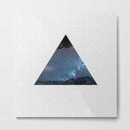 Mountain Galaxy Metal Print