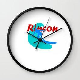 Surf, Rincon and fun Wall Clock
