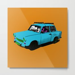 Trabant blue pop Metal Print
