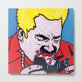 Guy Fieri will literally eat anything - including rats. | Pop Art Metal Print