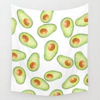 avocado Wall Tapestries featuring Avocado by Bridget Davidson