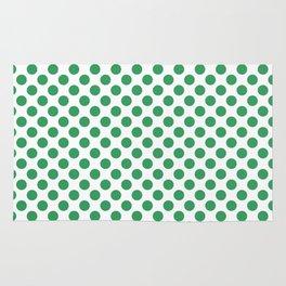 Kelly Green Small Polka Dots Rug