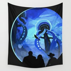 Europa Space Travel Retro Art Wall Tapestry