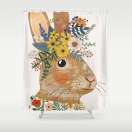 Foral Rabbit Shower Curtain