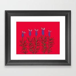 Lavender red Framed Art Print