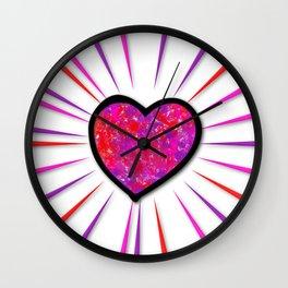Painterd heart Wall Clock